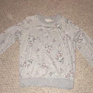 Garage Gray Floral Sweater